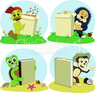 cartoon animals represent