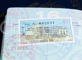 Visa stamps in US passport