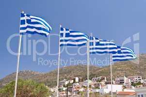Griechenlandflaggen