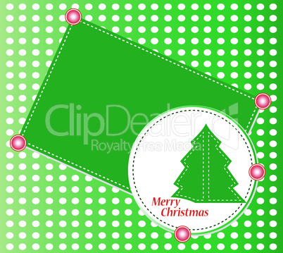 Christmas tree with ornaments. Vector christmas theme