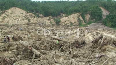 Earthquake Destruction Indonesia Devastating Landslide