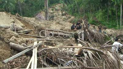 Earthquake Destruction Indonesia - Devastating Landslide