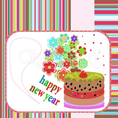 Vector Banners with flowers on Happy new year or Christmas