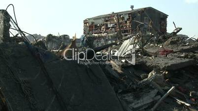 Industrial Building Destroyed By Tsunami In Kesennuma City Japan