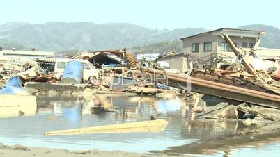 Tsunami Destruction And Aftermath In Japan