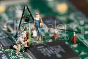 Reparatur von elektronischen Schaltkreisen