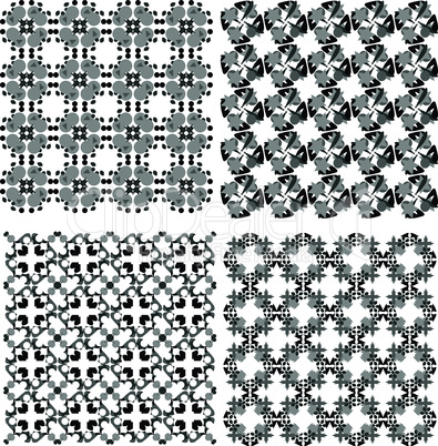 vector funky geometrical seamless abstract patterns set