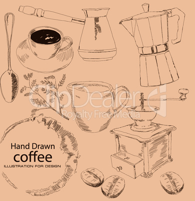 Coffee - hand drawn