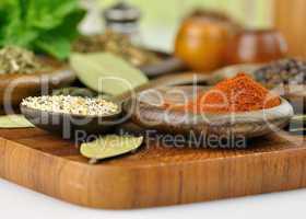spices arrangement