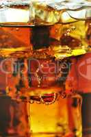 drink with ice,close up