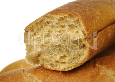 white and dark loaf of bread