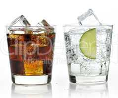 The sweet cooled drinks with ice
