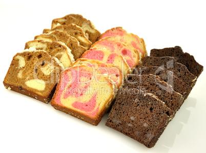 sliced loaf cake assortment