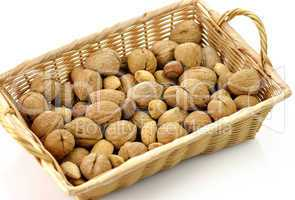 Mixed nuts in a basket