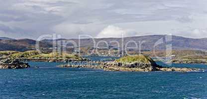 coastal landscape on scottish isle