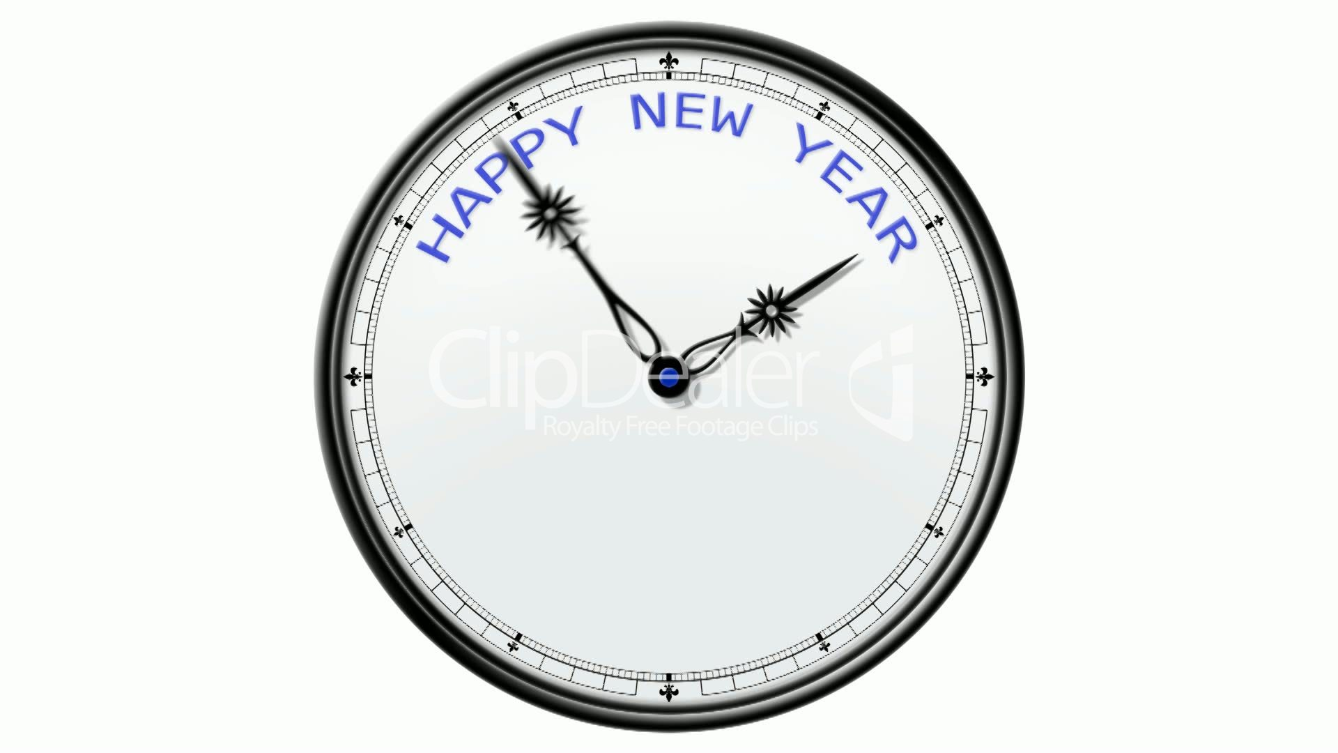 Clock: Happy New Year: Royalty-free video and stock footage