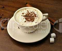coffee with cream and sugar