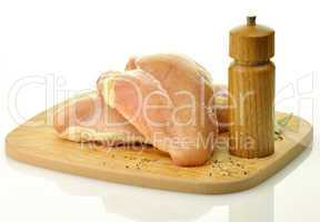Raw chicken breast meat