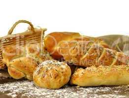 fresh homemade bread assortment