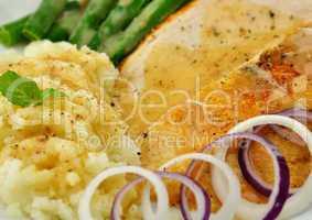 Roasted turkey slices