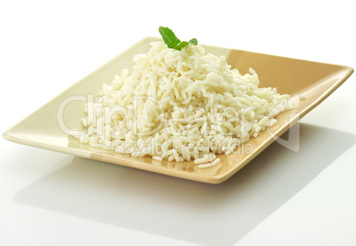 White steamed rice