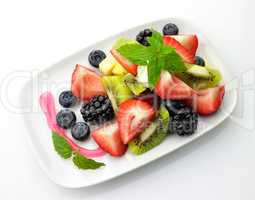 fresh fruit salad top view