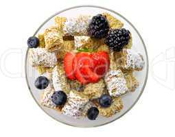 Shredded Wheat Cereal with fruits and berries