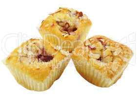 raspberry cupcakes with almonds