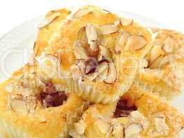 raspberry cupcake with almonds