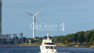Cape Cod Canal; wind turbine 3