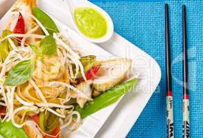 thai sheep roasted chicken's breast fillet