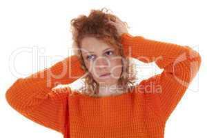 Junge Frau ist verzweifelt