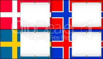 Denmark, Norway, Sweden, Iceland.