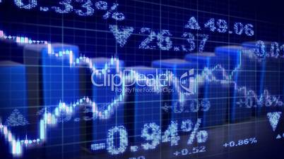 stock market blue loopable business background