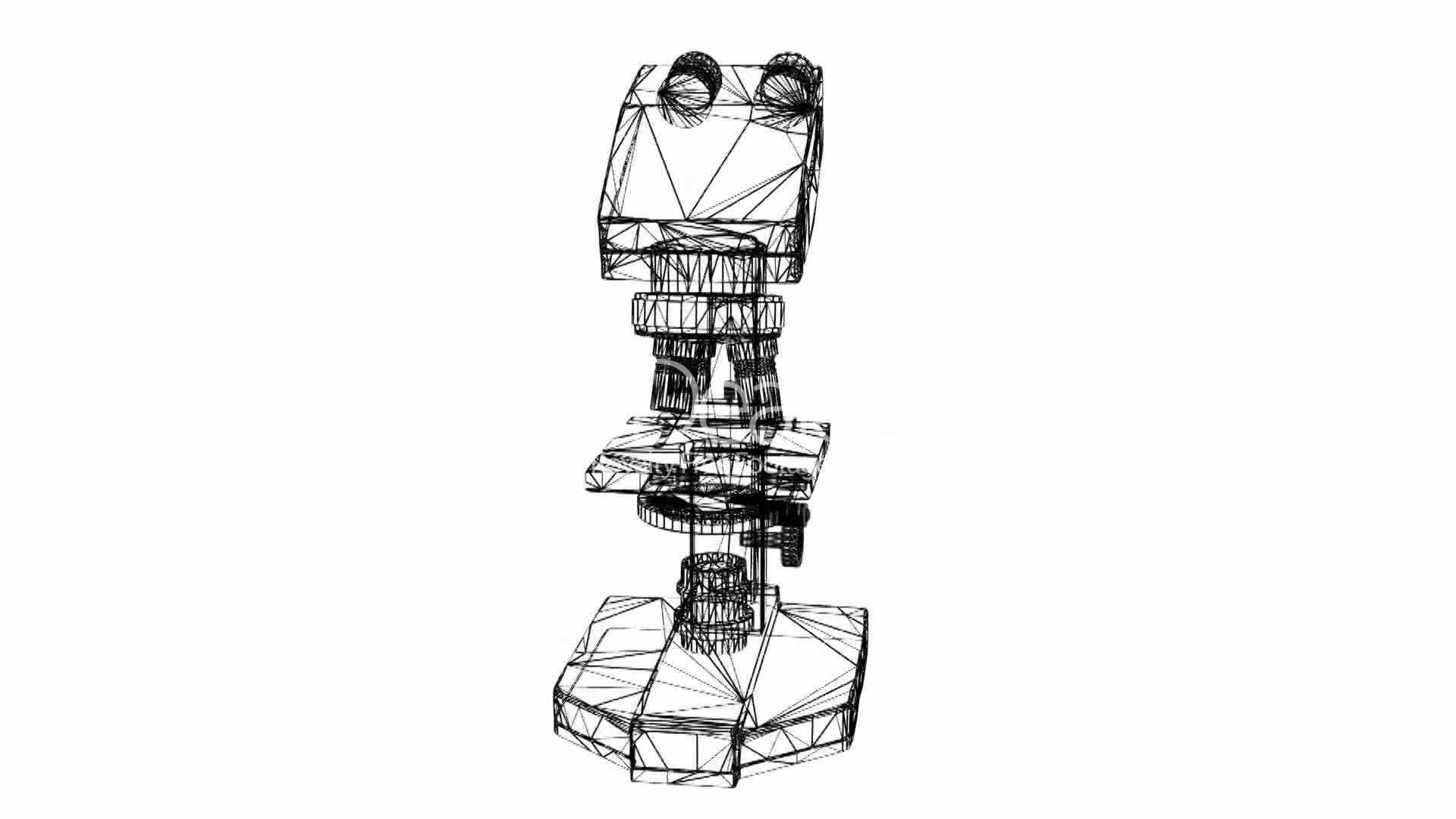 microscope in aboratory research equipment grid mesh sketch structure   royalty