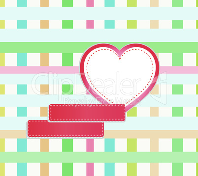 abstract mosaic background with hearts and empty space