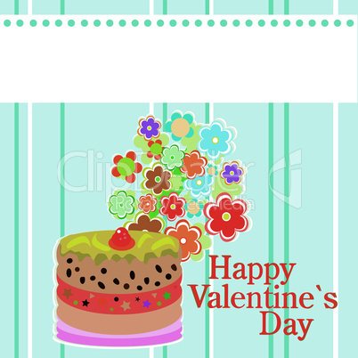 valentine`s party flowers and delicious sweet cakes