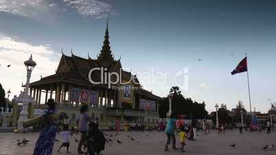 View of the Royal Palace in Phnom Penh, Cambodia