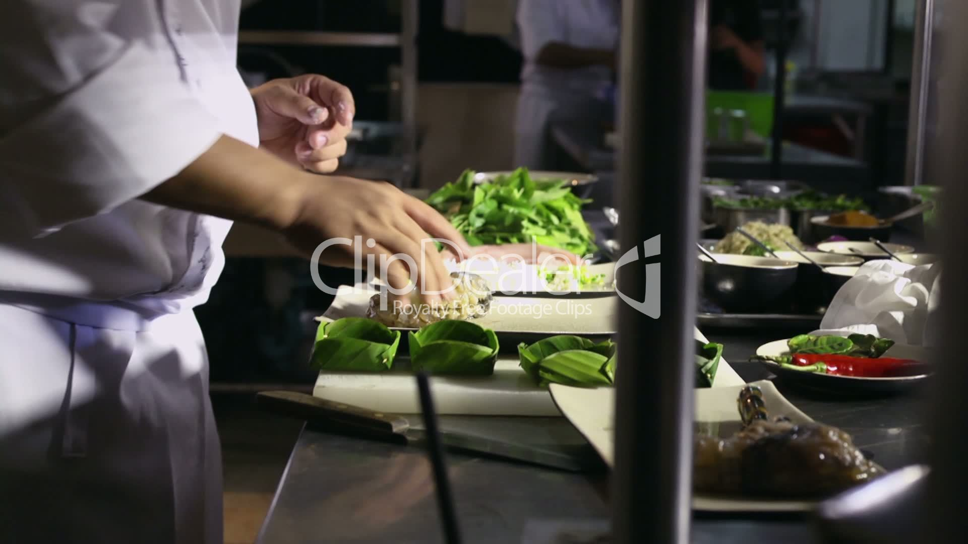 Restaurant Kitchen Terms professional cook working in asian restaurant kitchen: royalty