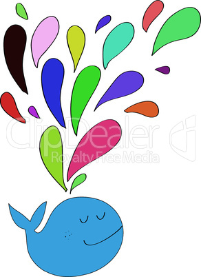 Regenbogen Farben Wal