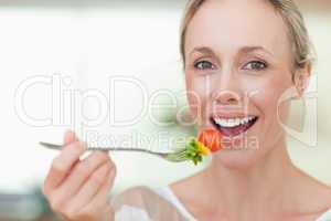 Woman having some salad