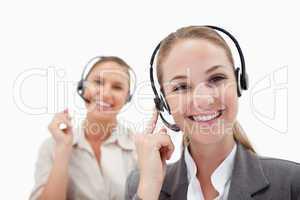 Joyful operators using headsets