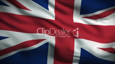 British Flag HD. Looped.