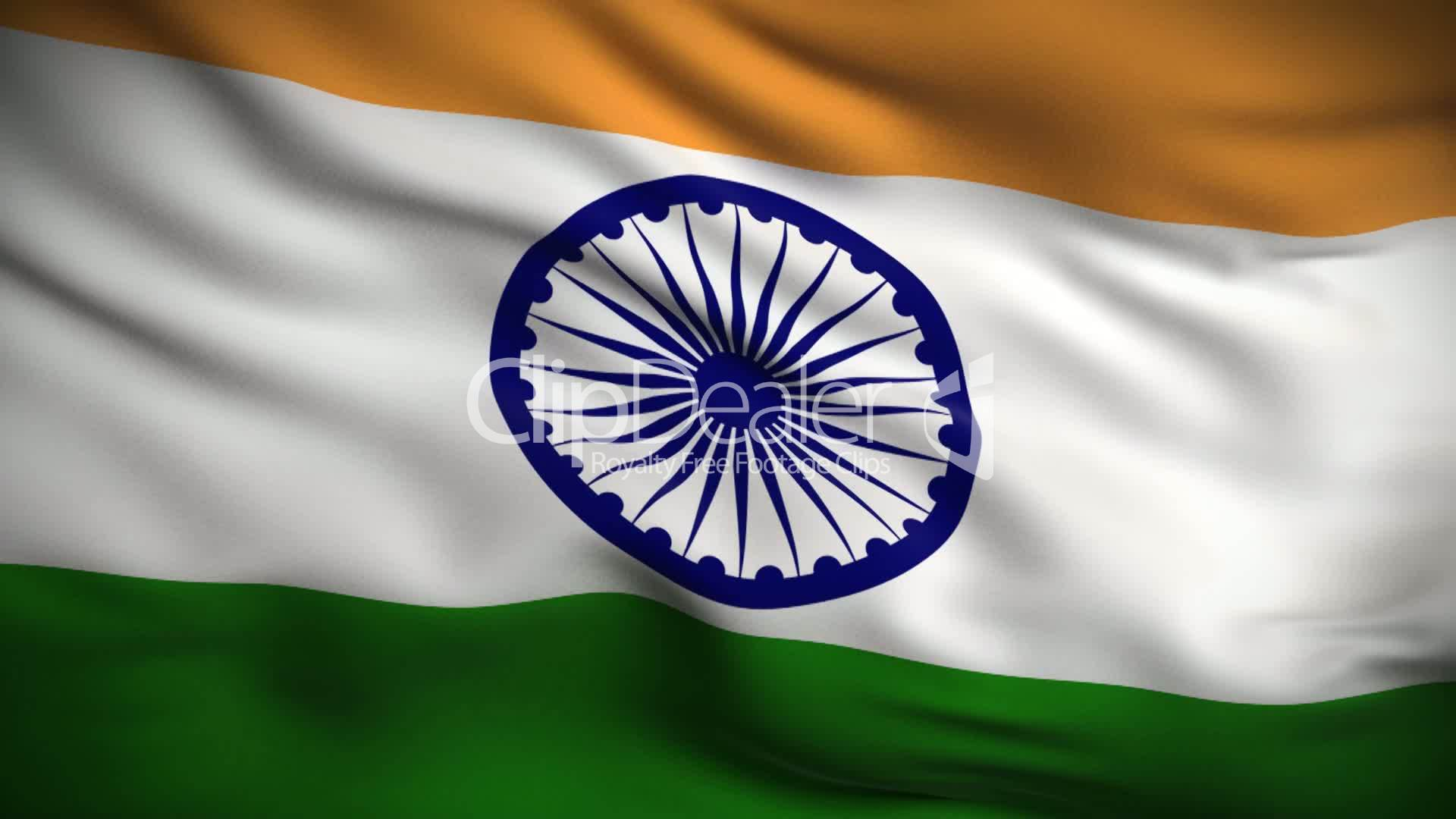 Flower With Indian Flag Hd: Indian Flag HD. Looped.: Royalty-free Video And Stock Footage