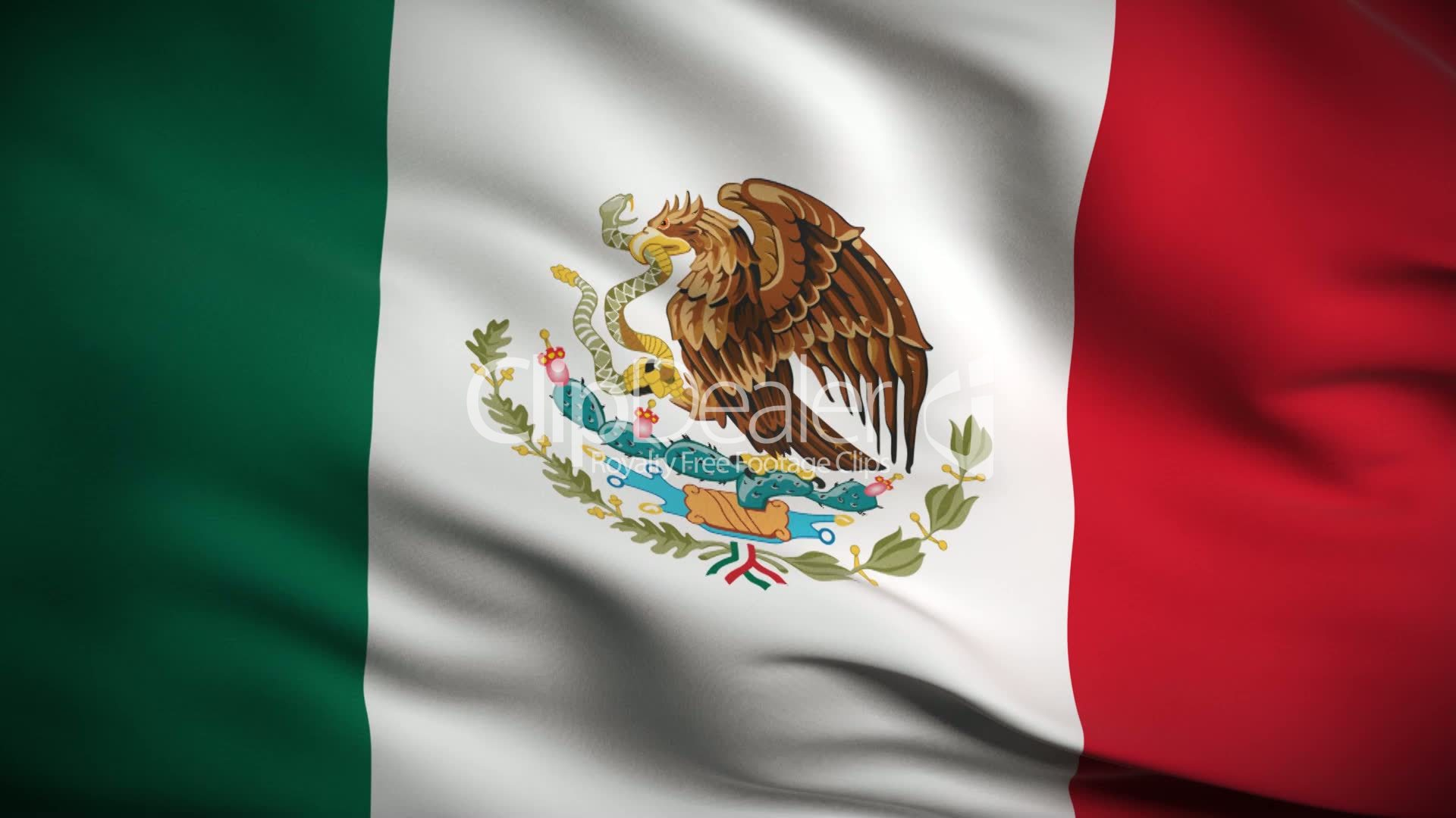 Mexican Flag HD. Looped.: Royalty-free video and stock footage