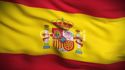 Spanish Flag HD. Looped.