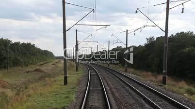 View from train Window, full HD video, 1920X1080