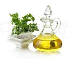 Cooking Oil And Parsley