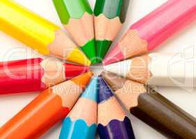 set of colored pencils