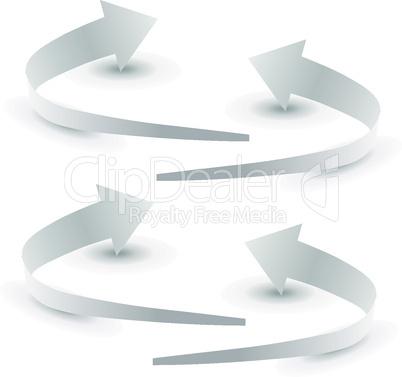 Origami arrow paper,  vector illustration.